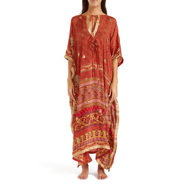 The Shannon Silk Kaftan 11