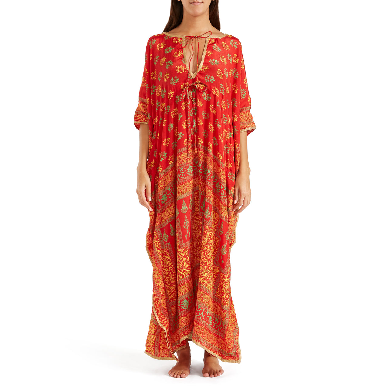 The Shannon Silk Kaftan 12