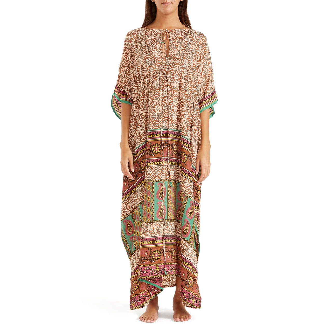 The Shannon Silk Kaftan 14