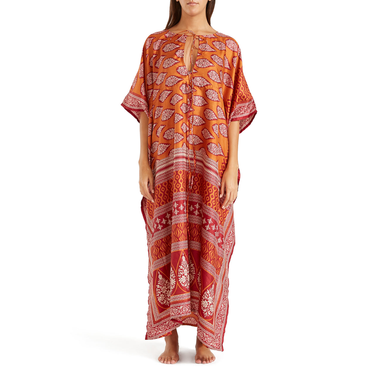 The Shannon Silk Kaftan 16