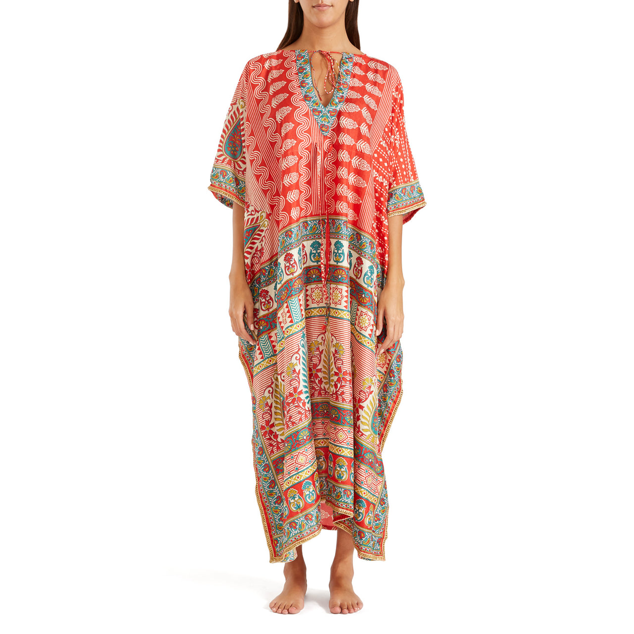 The Shannon Silk Kaftan 17