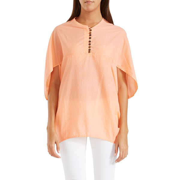 Antonia Cape Blouse Peach
