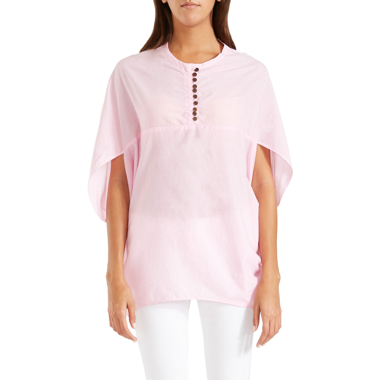 Antonia Cape Blouse Pink