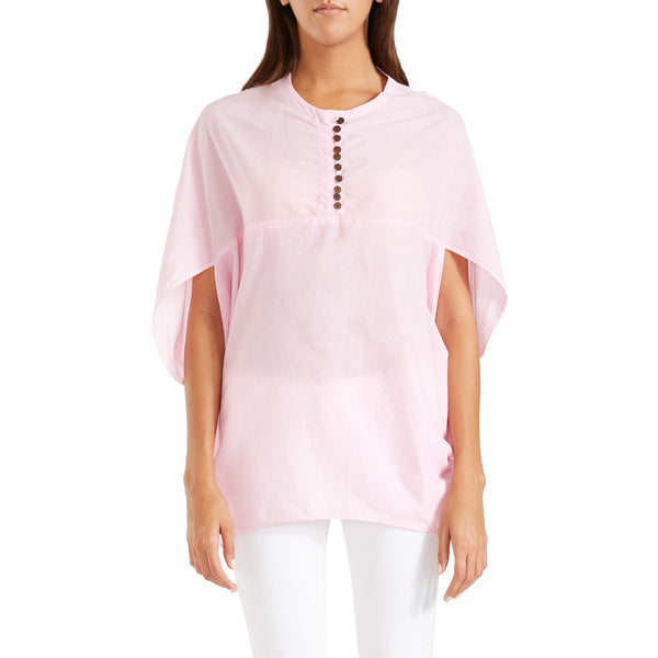 Antonia Cape Blouse – Pink