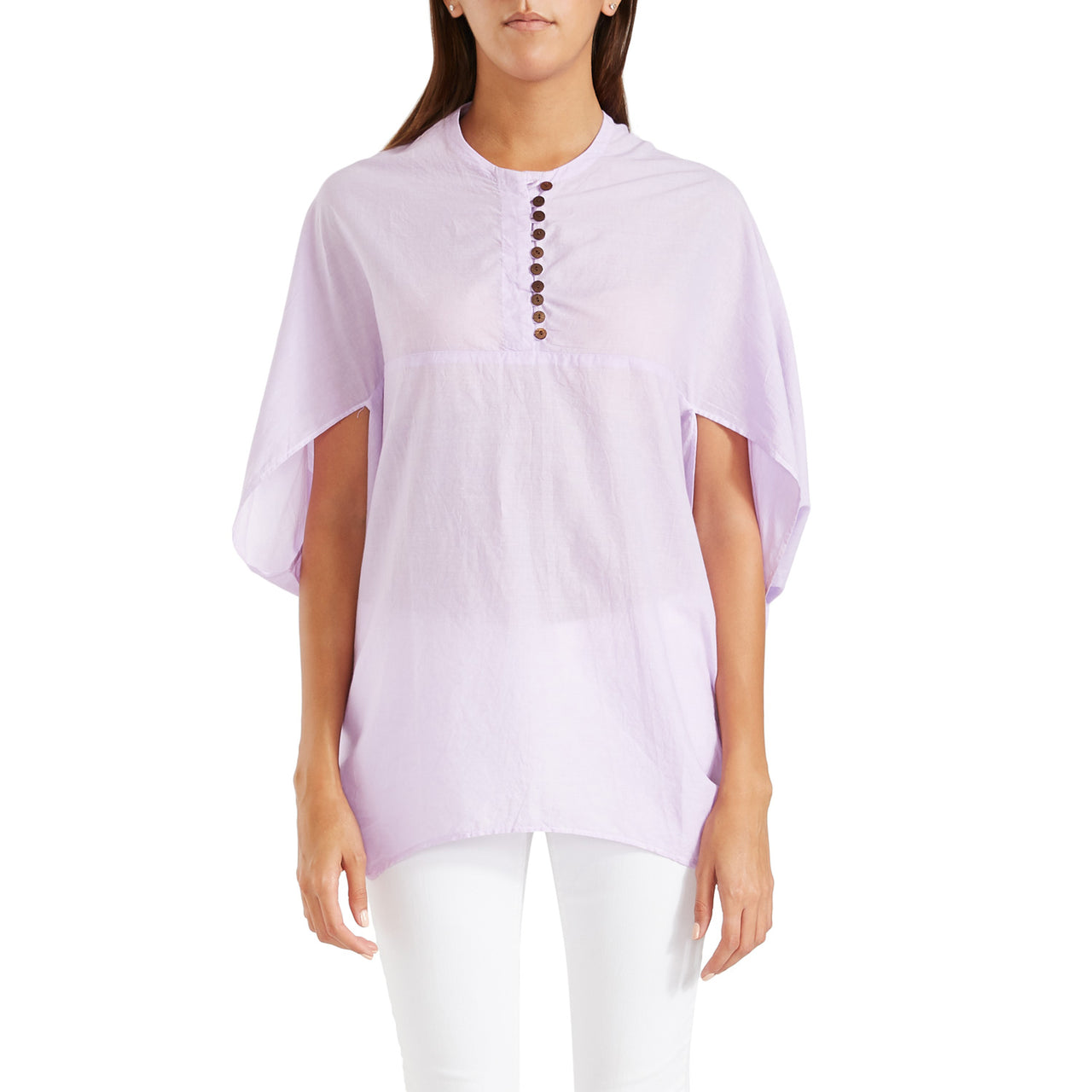 Antonia Cape Blouse Lavender