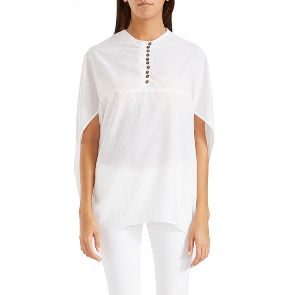 Antonia Cape Blouse White