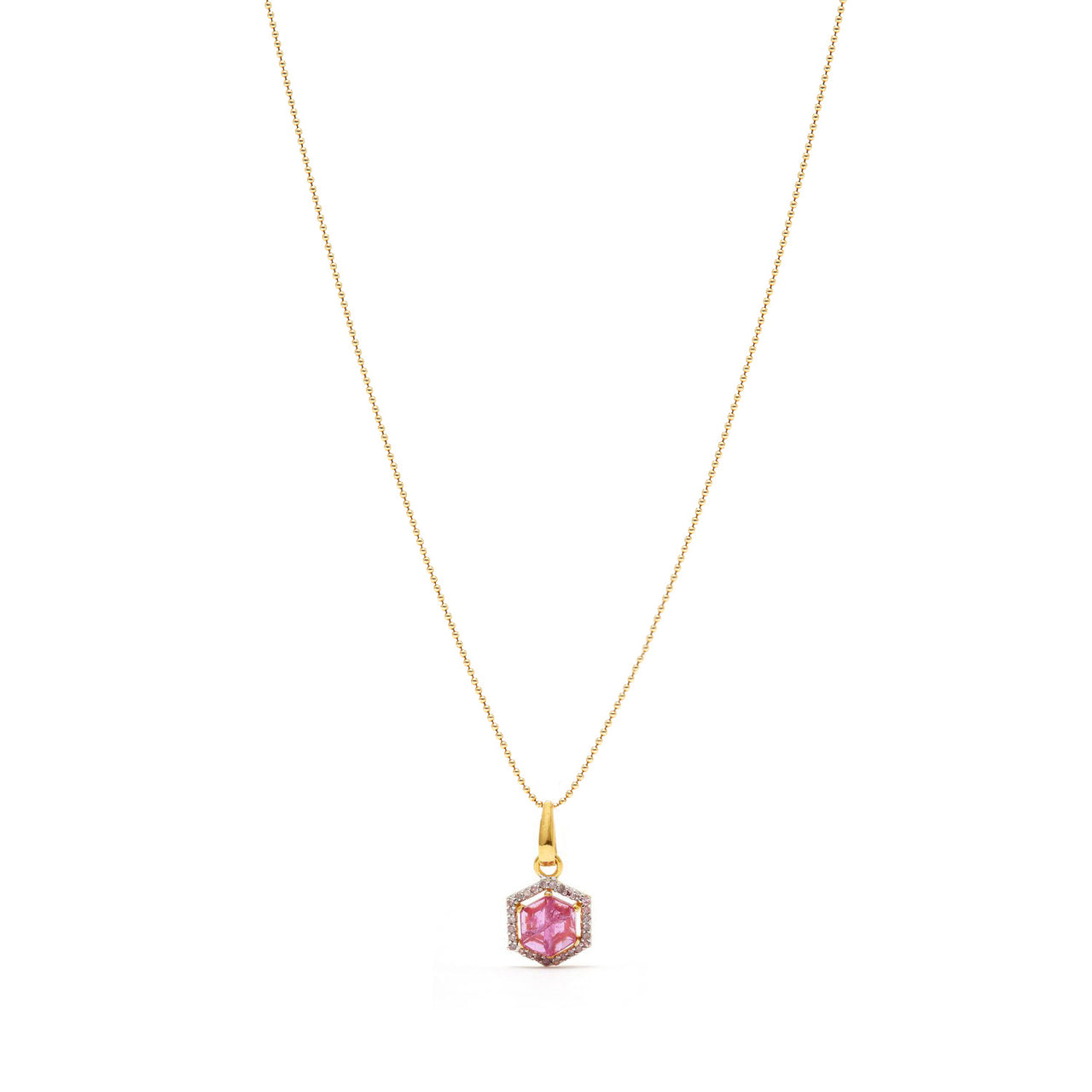 Petit Ruby & Diamond Pendant