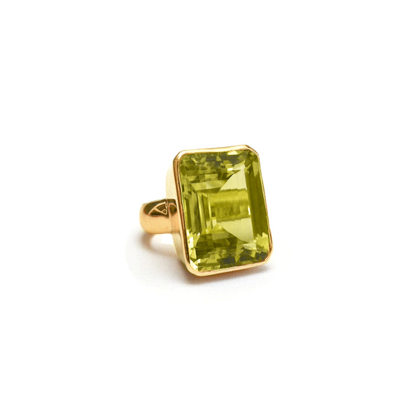 Lemon Citrine Cocktail Ring