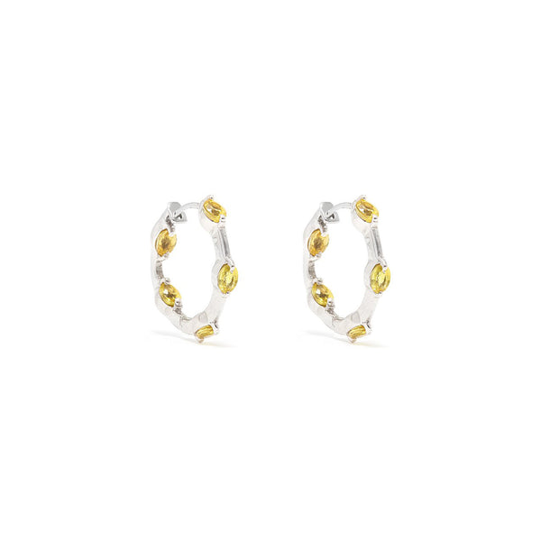 Sarah Yellow Sapphire Hoop Earrings