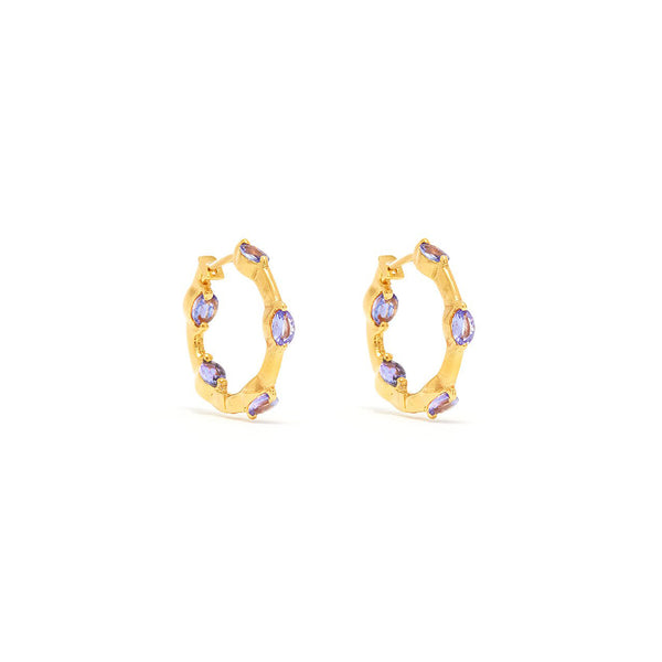 Sarah Tanzanite Hoop Earrings