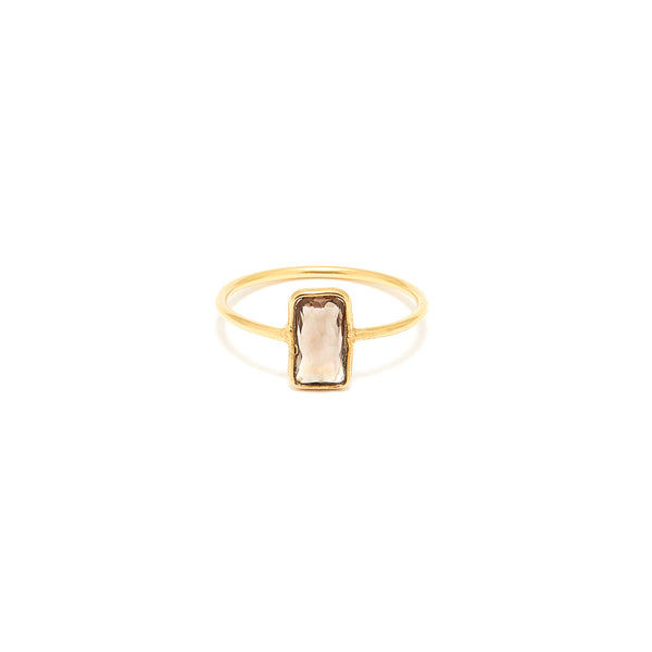 Petit Jai Chocolate Topaz Signet Ring