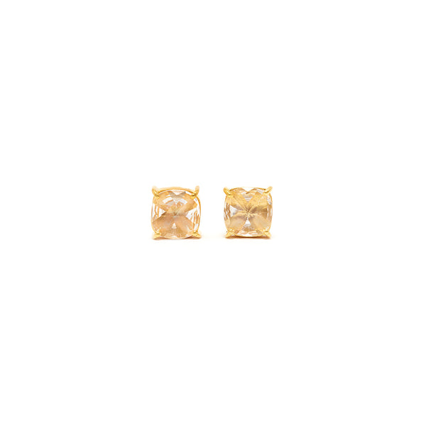 Petit Jai Crystal Cushion Cut Stud Earrings