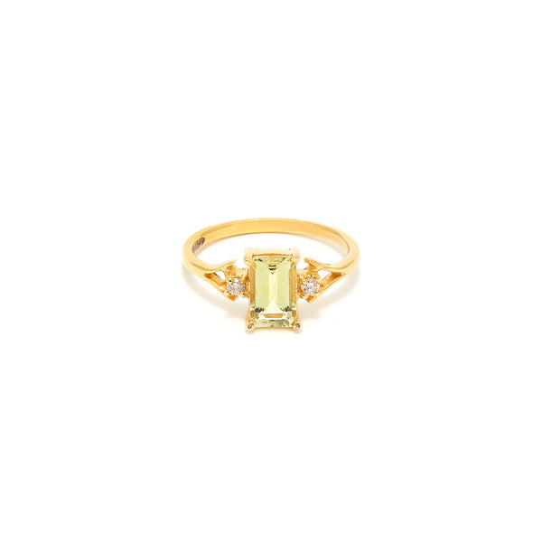 Petit Jai Yellow Aquamarine Diamond Ring