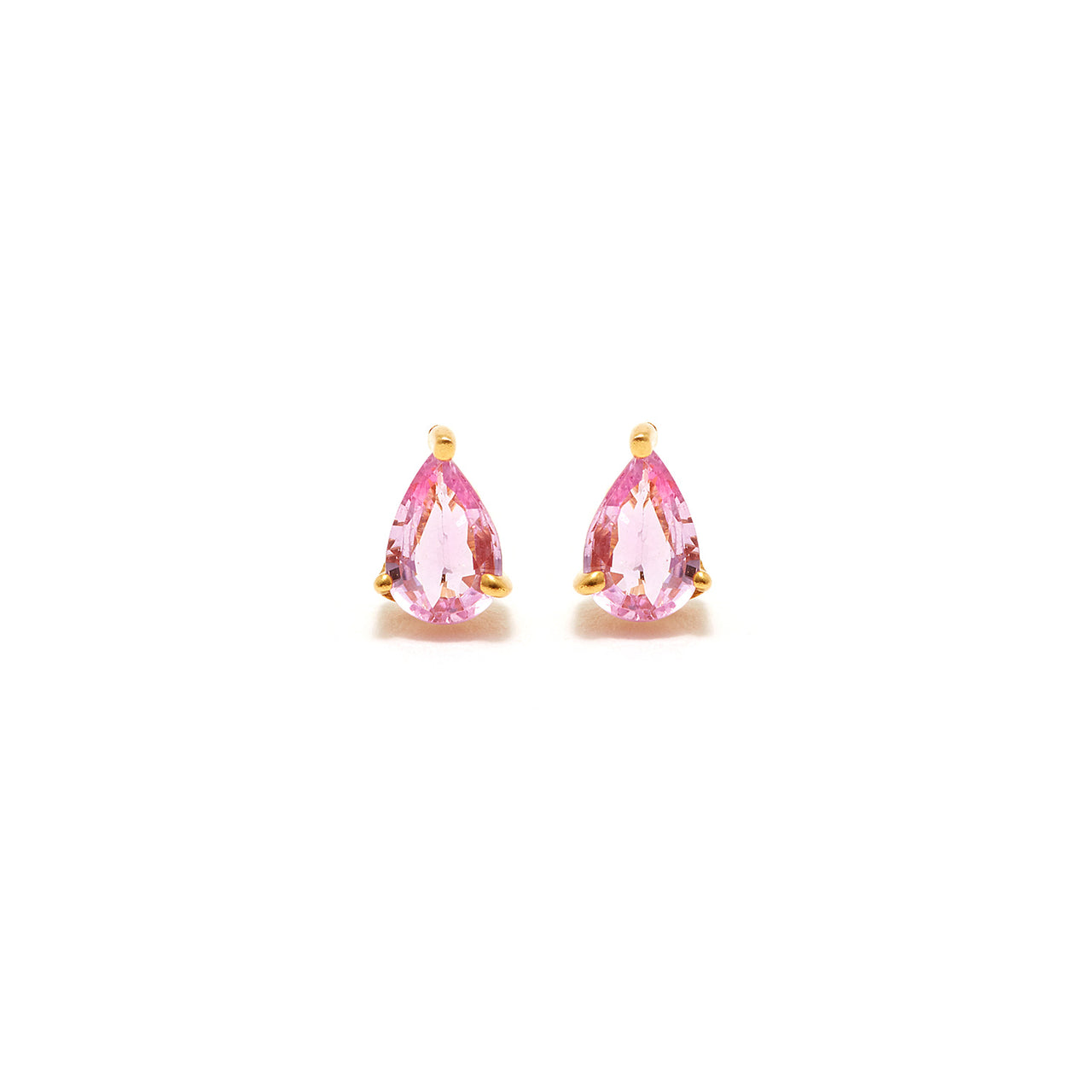 Pink Sapphire Earrings-Earrings-Jaipur Atelier