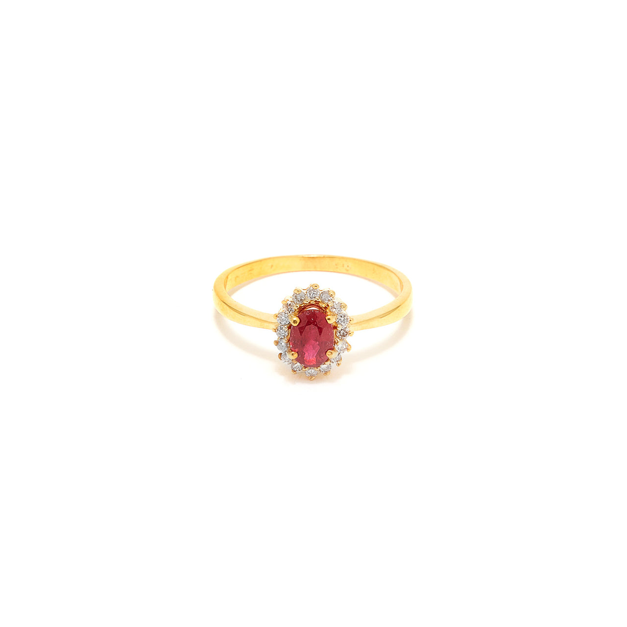 Ruby Diamond Cluster Dress Ring-Ring-Jaipur Atelier