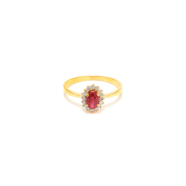 Ruby Diamond Cluster Dress Ring