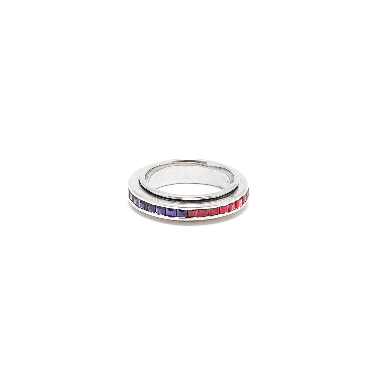 Ruby Sapphire Spin Band-Ring-Jaipur Atelier