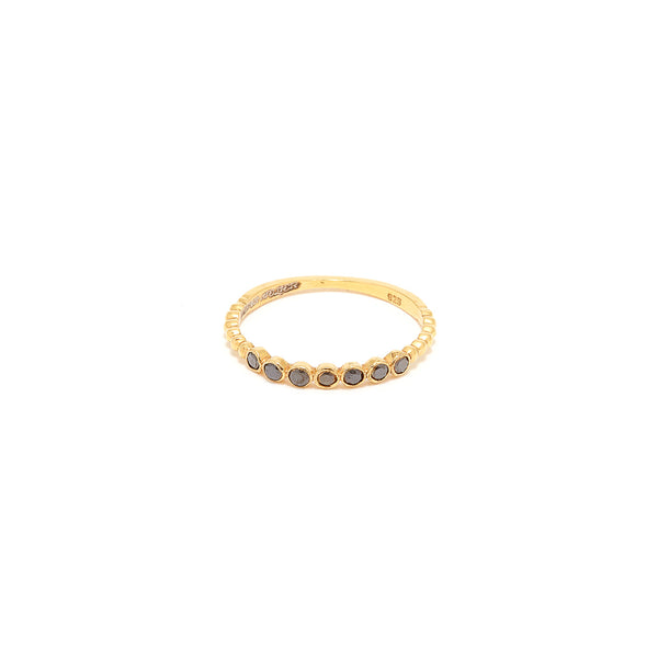 Black Diamond Seven Stack Ring-Ring-Jaipur Atelier