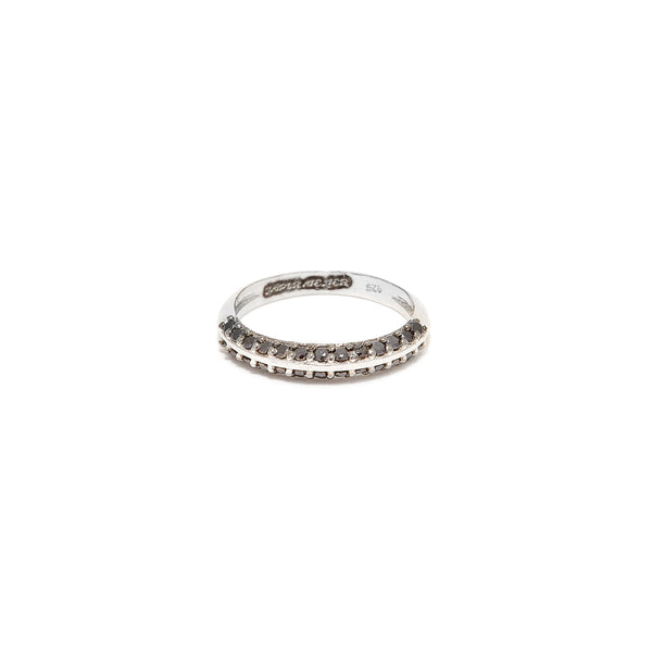 Black Diamond Doublet  Ring
