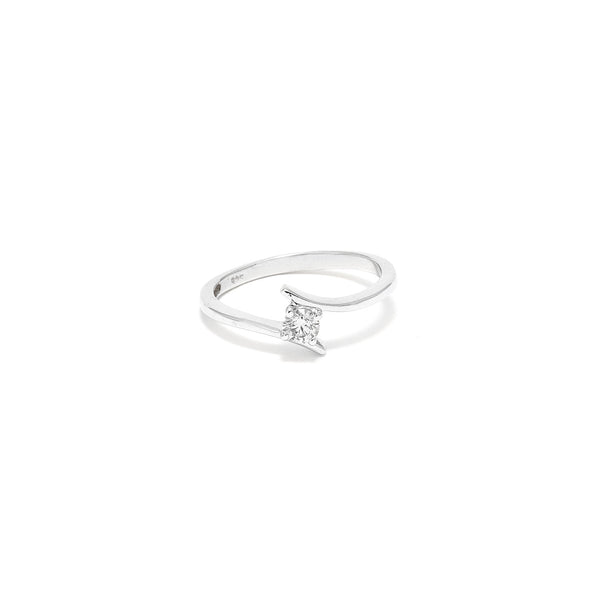 Petit Jai White Diamond Suspension Ring