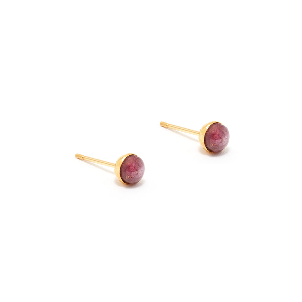 Ruby Star Stud Earrings