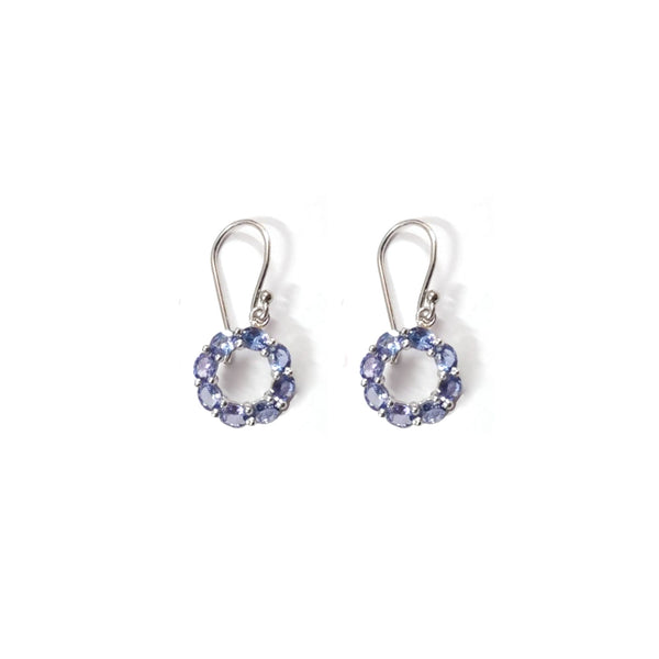 Tanzanite Cirque Baguette Drops-Earrings-Jaipur Atelier