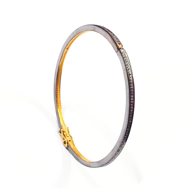 Brilliant Black Diamond Bangle