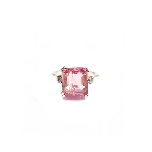Pink Tourmaline Diamond Dress Ring