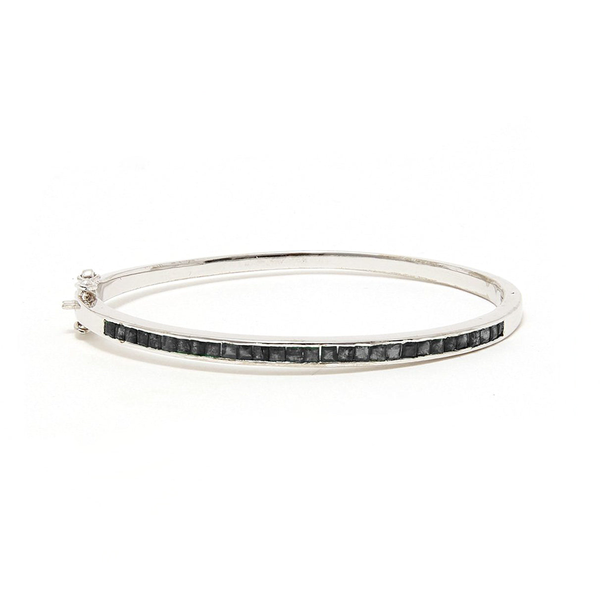 Black Diamond Baguette Bangle
