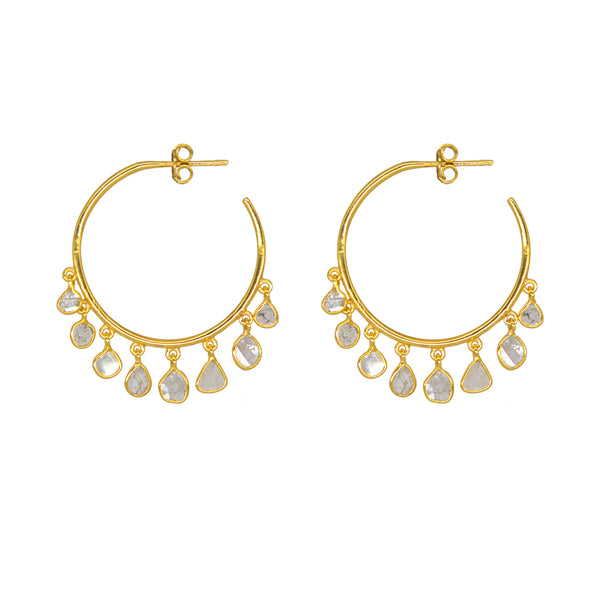 Jerry Diamond Hoop Earrings