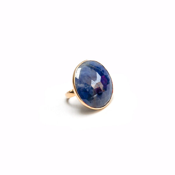 Sapphire Baby Dome Cocktail Ring