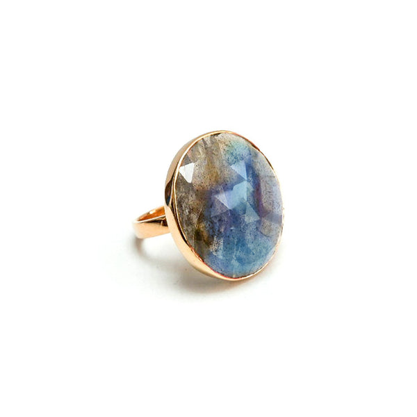 Labradorite Dome Cocktail Ring
