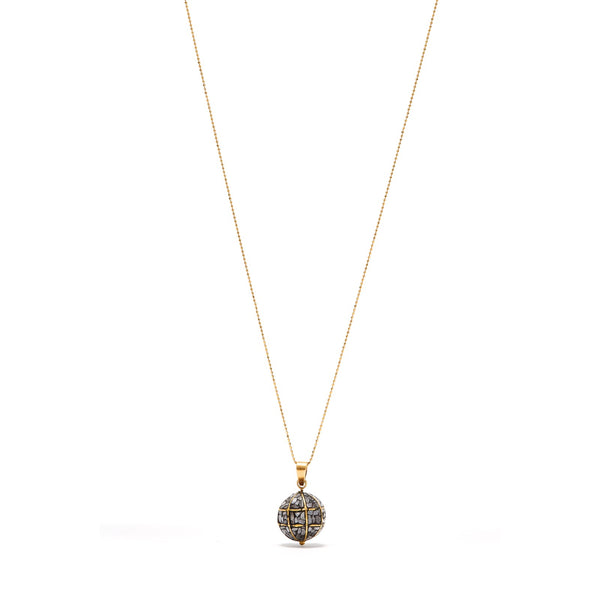 Black Diamond Roller Ball Pendant