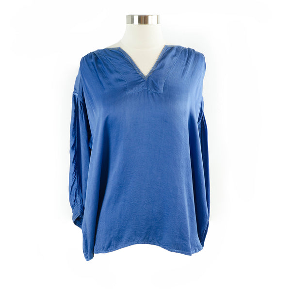 Manissa Silk Top – Blue