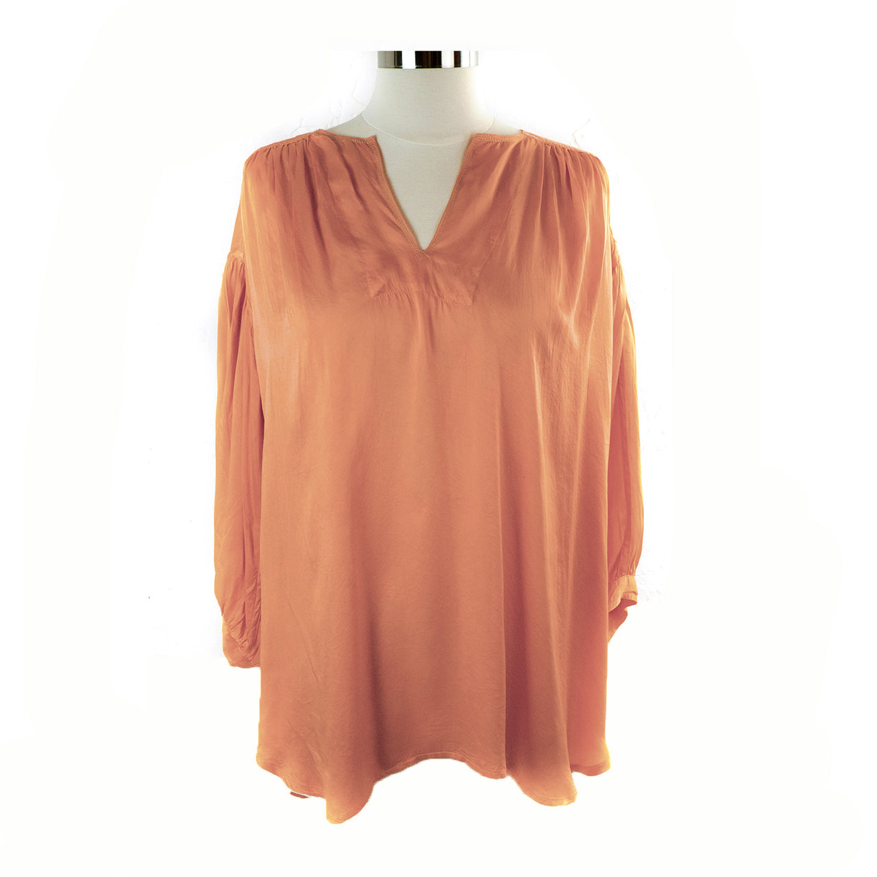 Manissa Silk Top – Peach
