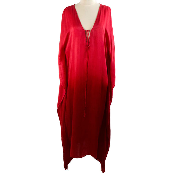 Mega Long Ombre Kaftan – Red/Crimson