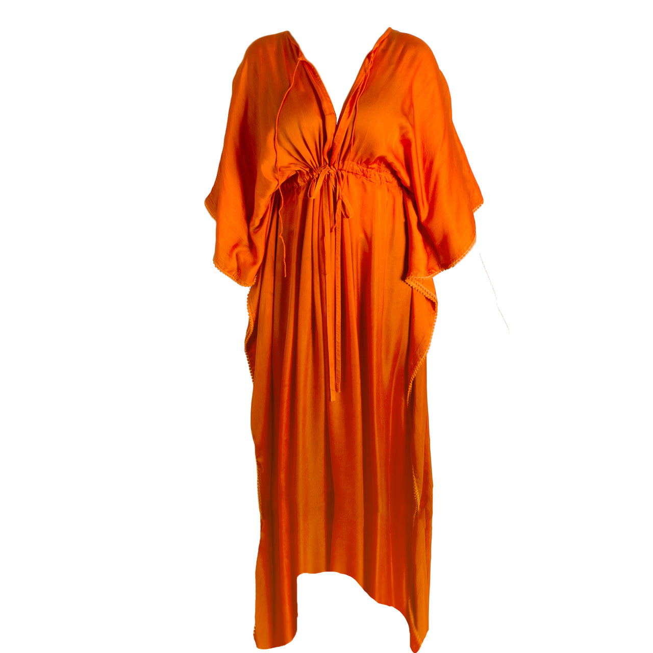 Bobba Long Silk Kaftan - Orange