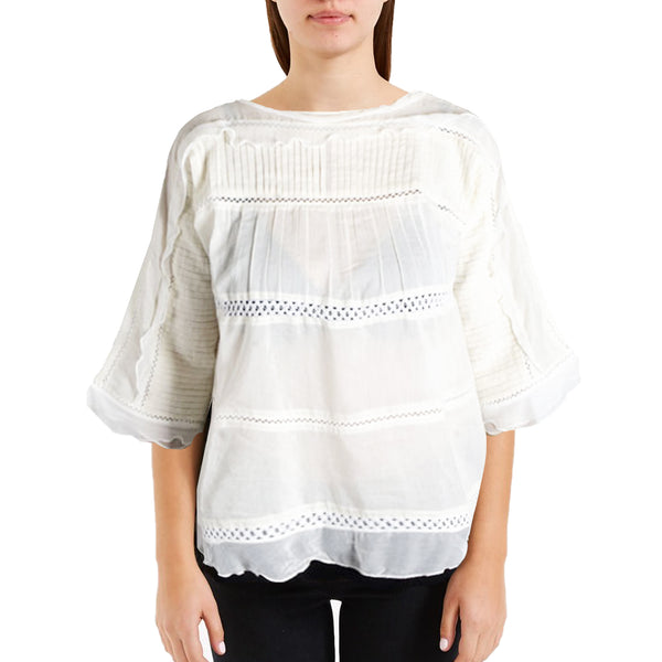 Lily Peasant Blouse – Cream