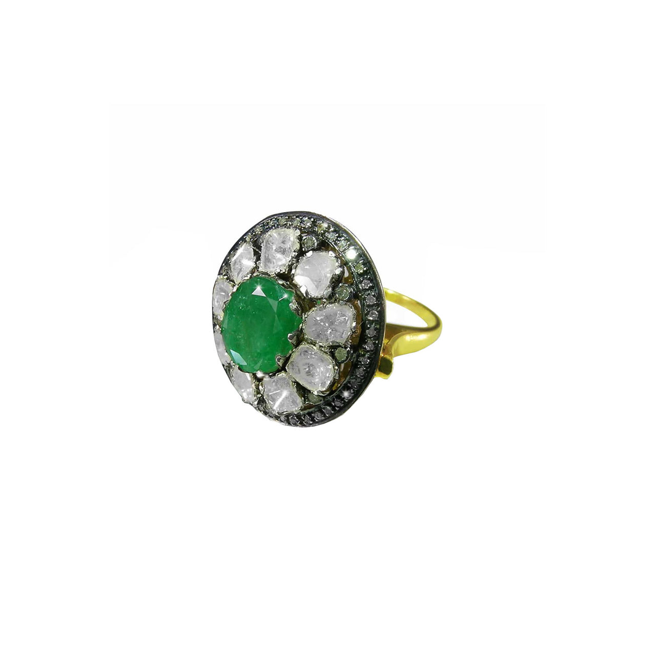 Jaipur Atelier Cabochon Emerald and Diamond Cocktail