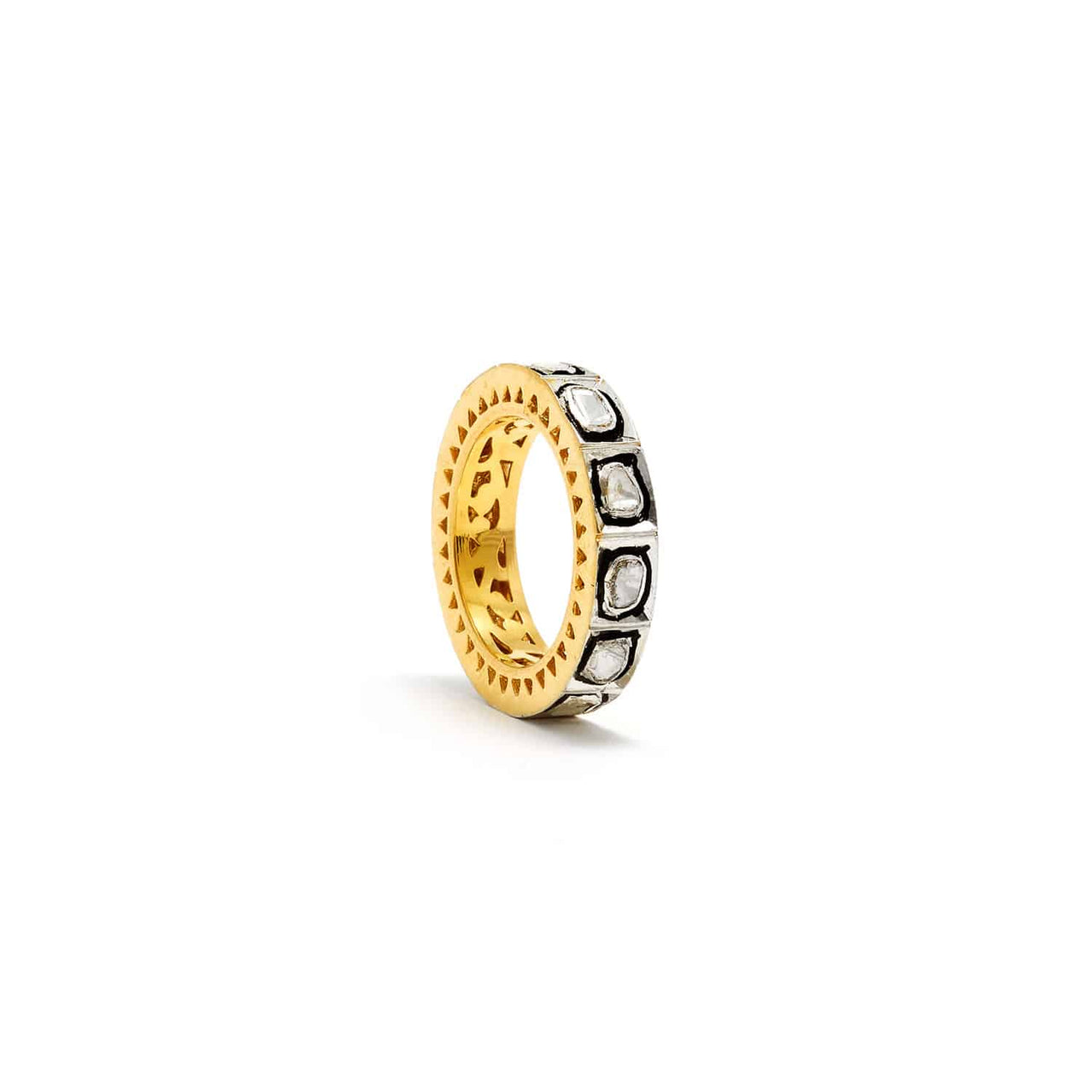 Rock N Roll Regal Diamond Bolt Ring