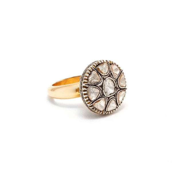 Jaipur Atelier Diamond Opium Poppy Gold Band