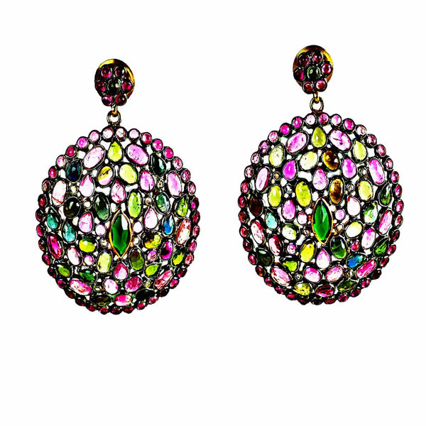 Jaipur Atelier 'Diaphanous' Multicolor Tourmaline Circles
