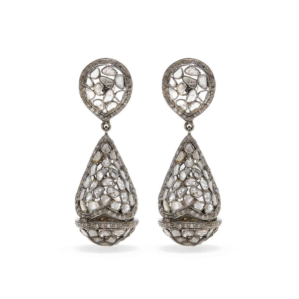 Jaipur Atelier Grey Diamond Puffs