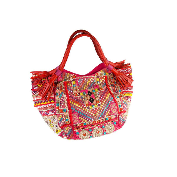 BOHO HOBO CRIMSON BAG