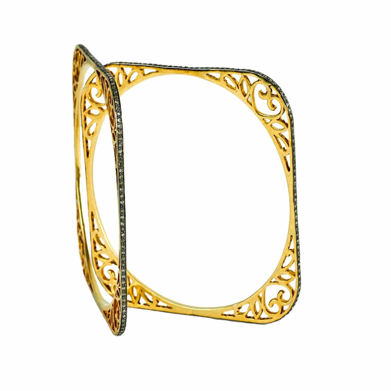 Jaipur Atelier Pair of Square Diamond Bangles