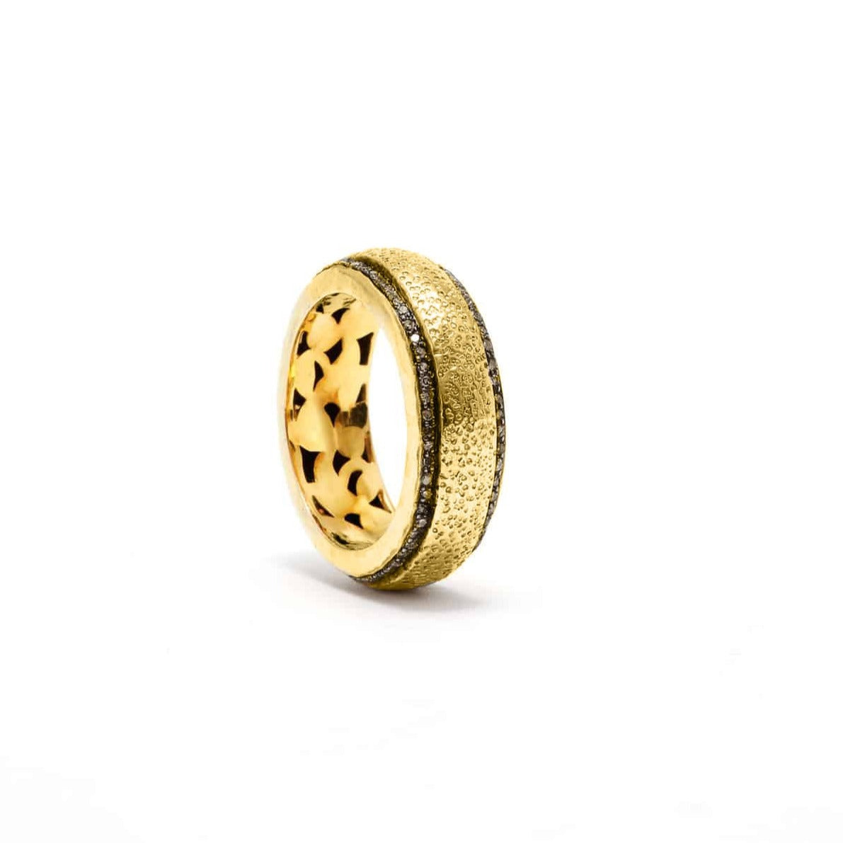 Gold Prickled Diamond Band