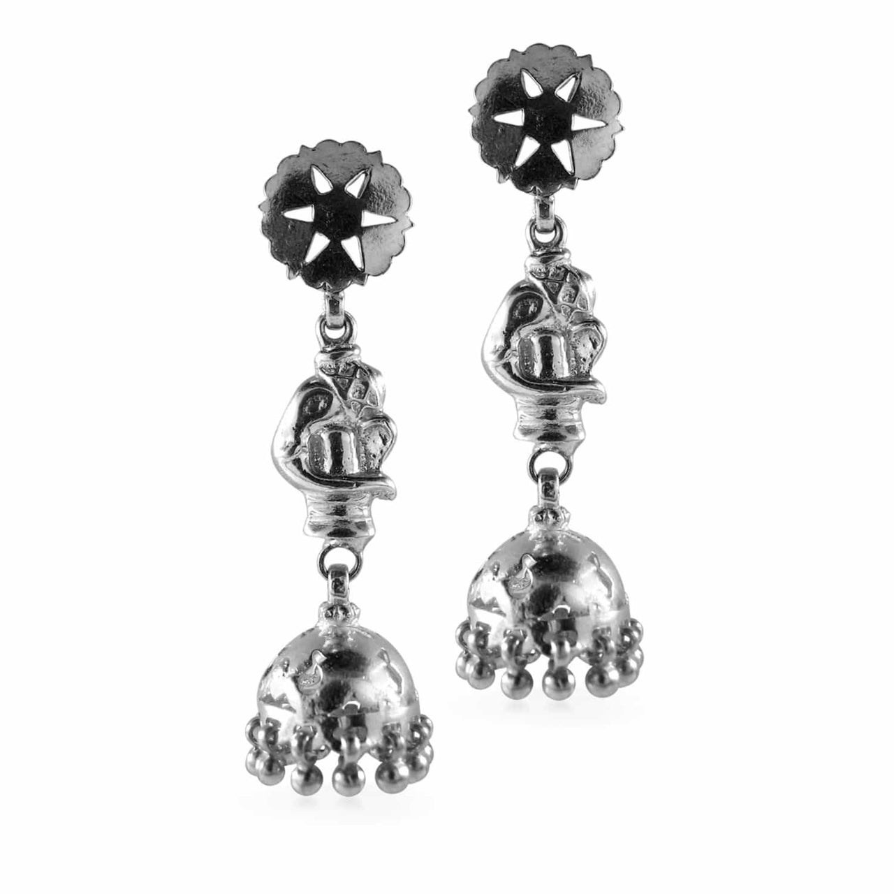 Jaipur Atelier Silver Elephant Chandeliers