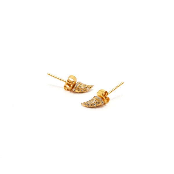 Yellow Diamond Thorn Lab Earrings