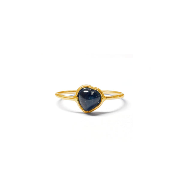 Sapphire Cabochon Heart Ring