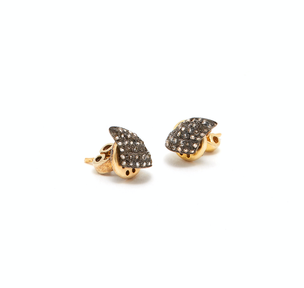 Jaipur Atelier Black Diamond Demi Set Thorn Stud Earrings